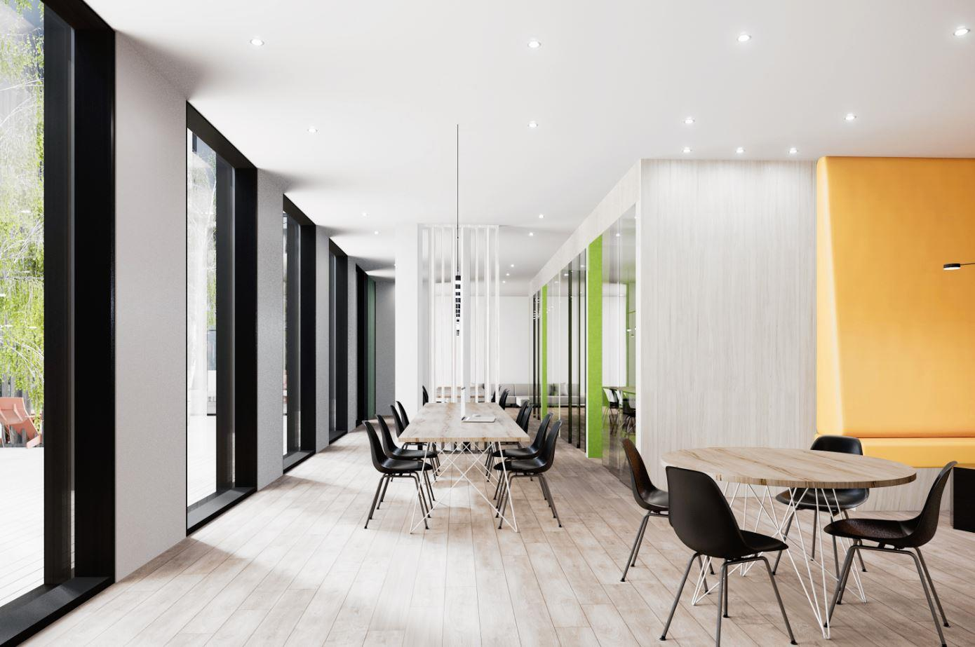 Tretti Condos Co-Working Space Rendering